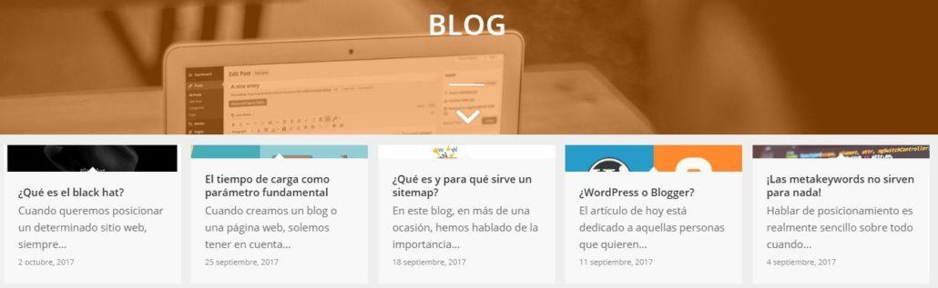Cuerpo del blog de Webed